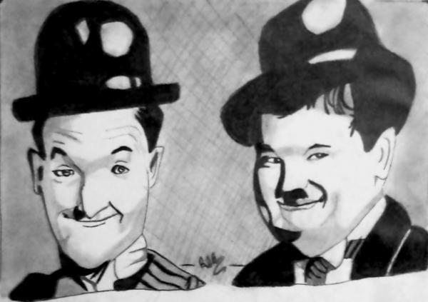 Laurel & Hardy by atelierduhardcore